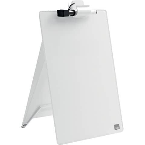 Nobo Glas Notizboard Diamond - A4, weiß, aufstellbar