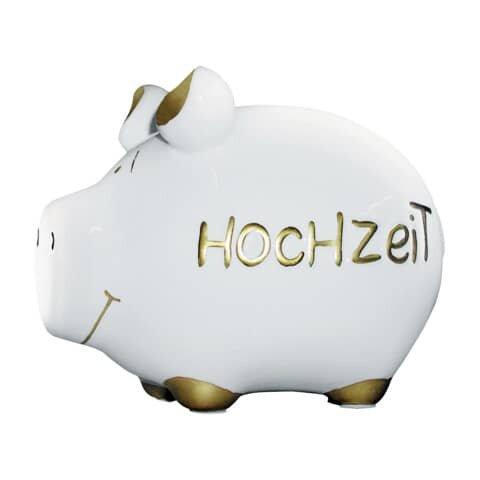 KCG Spardose Schwein 'Hochzeit' - Keramik, klein
